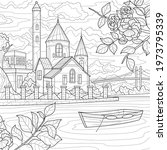castle by the river.coloring...   Shutterstock .eps vector #1973795339