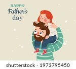 cartoon father s day daugther... | Shutterstock .eps vector #1973795450