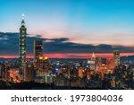 Taipei City Skyline View At...
