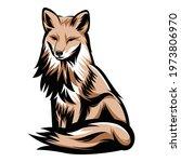 fox mascot logo vector... | Shutterstock .eps vector #1973806970