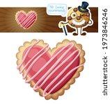 heart sugar cookies... | Shutterstock . vector #1973846246