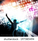 music party illustration.... | Shutterstock .eps vector #197385494