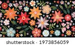 colorful seamless embroidery... | Shutterstock .eps vector #1973856059