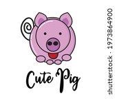 Cute Looking Pig Or Swine Flat...