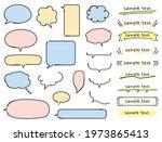 handwritten balloons and... | Shutterstock .eps vector #1973865413