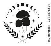mushroom celestial  magic... | Shutterstock .eps vector #1973876639