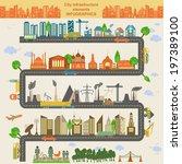 set of modern city elements for ...   Shutterstock .eps vector #197389100