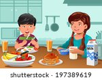 a vector illustration of happy... | Shutterstock .eps vector #197389619
