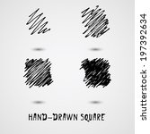 hand drown elements. square... | Shutterstock .eps vector #197392634
