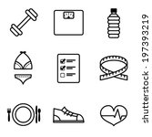 vector weight loss icons | Shutterstock .eps vector #197393219