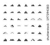 mountain icon set   vector... | Shutterstock .eps vector #197394383