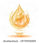 drop vitamin bl solution serum... | Shutterstock .eps vector #1973945009