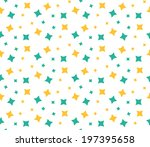 abstract retro pattern. vector... | Shutterstock .eps vector #197395658