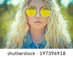 fashion portrait of young... | Shutterstock . vector #197396918