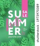 hello summer sale design...   Shutterstock .eps vector #1973970389