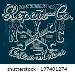 t shirt graphics | Shutterstock .eps vector #197401274