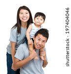 happy family with baby son   Shutterstock . vector #197404046