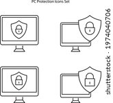 privacy policy  safety lock and ... | Shutterstock .eps vector #1974040706
