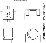 microchip icons isolated on... | Shutterstock .eps vector #1974041960