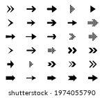 arrows black icons set.... | Shutterstock .eps vector #1974055790