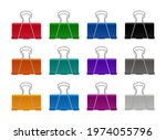 set for color clip or clamp for ... | Shutterstock .eps vector #1974055796