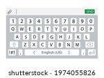smartphone keyboard. keypad... | Shutterstock .eps vector #1974055826