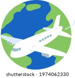 simple hand drawn airplane...   Shutterstock .eps vector #1974062330