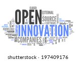 word cloud with open innovation ... | Shutterstock . vector #197409176