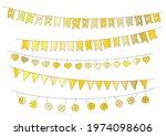 pennant strings set in gold ...   Shutterstock .eps vector #1974098606