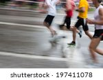 a marathon run | Shutterstock . vector #197411078