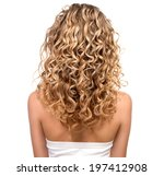 beauty girl with blonde curly... | Shutterstock . vector #197412908