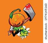 Illustration Of A Pumpkin...