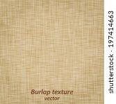 burlap sack fabric canvas linen ... | Shutterstock .eps vector #197414663
