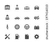 car service icons   Shutterstock .eps vector #197416010