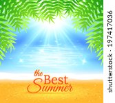 colorful summer sea background... | Shutterstock .eps vector #197417036
