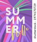 hello summer poster. modern...   Shutterstock .eps vector #1974170729