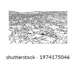 building view with landmark of...   Shutterstock .eps vector #1974175046
