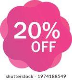 twenty percent discount off... | Shutterstock .eps vector #1974188549