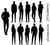 vector silhouettes of  men and... | Shutterstock .eps vector #1974188993