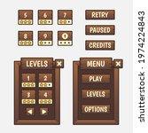 set of game menu selection for...