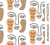 abstract faces seamless pattern ... | Shutterstock .eps vector #1974232376