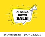 closing down sale. megaphone... | Shutterstock .eps vector #1974252233