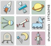 space icons set | Shutterstock .eps vector #197426948