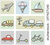 transport icons set | Shutterstock .eps vector #197427140