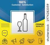 wine glass and wine bottle... | Shutterstock .eps vector #1974282059