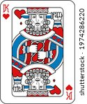 a playing card king of hearts...   Shutterstock .eps vector #1974286220