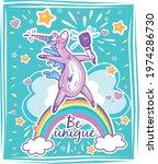 magical cute unicorn template...   Shutterstock .eps vector #1974286730