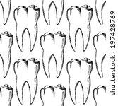 Sketch Teeth  Vector Vintage...