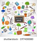 back to school big doodles set    Shutterstock .eps vector #197430080