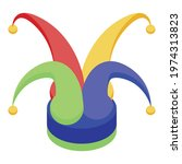 jester hat icon. isometric of... | Shutterstock .eps vector #1974313823